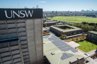 UNSW Tower w/ energy panels